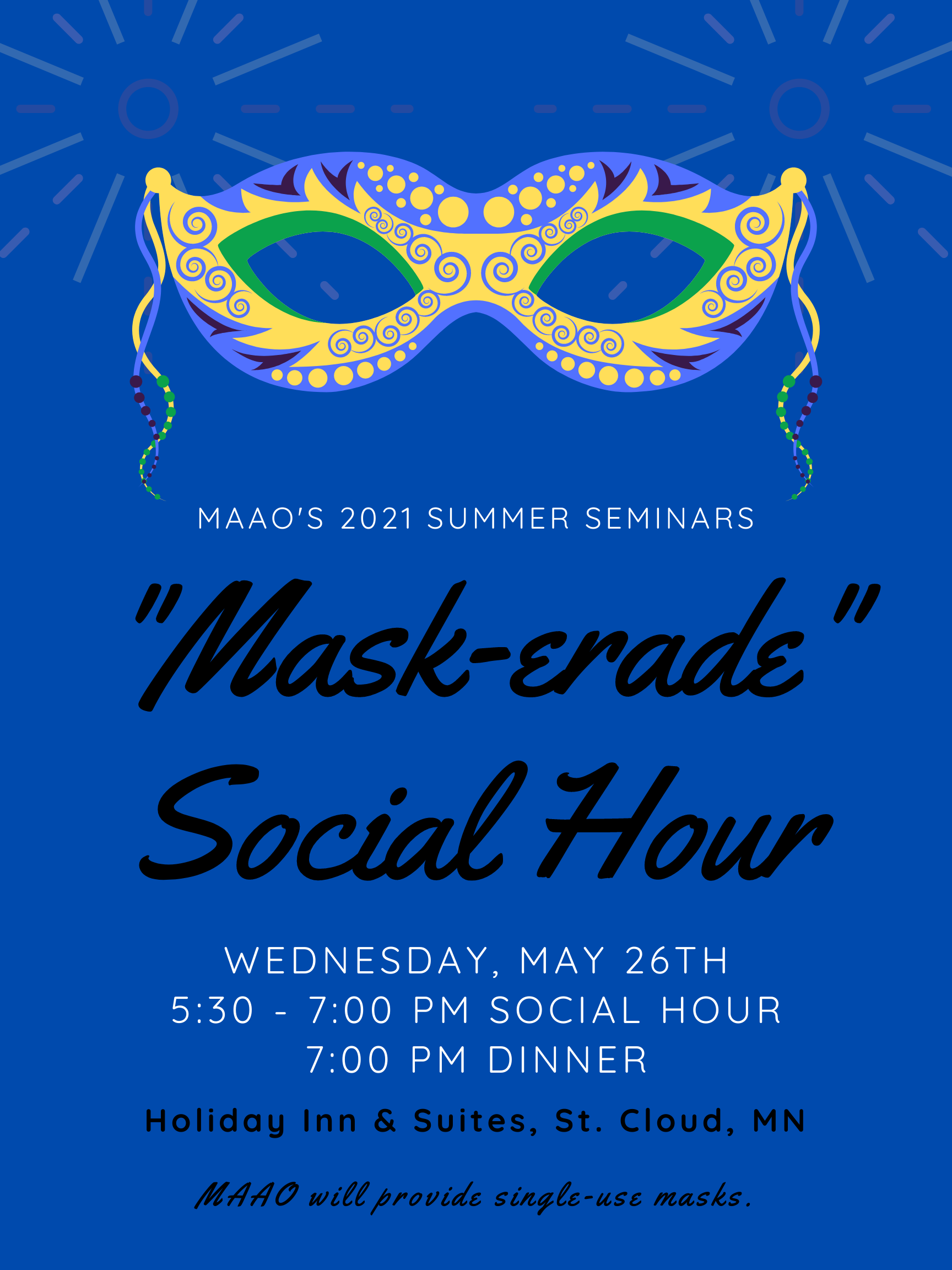 Mask-erade social hour
